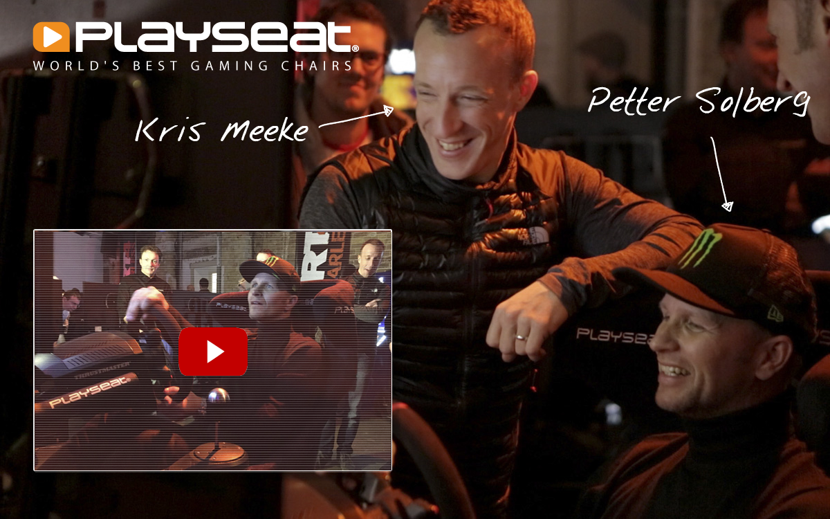Petter Solberg playing DiRT 4 with Playseat® Sensation PRO