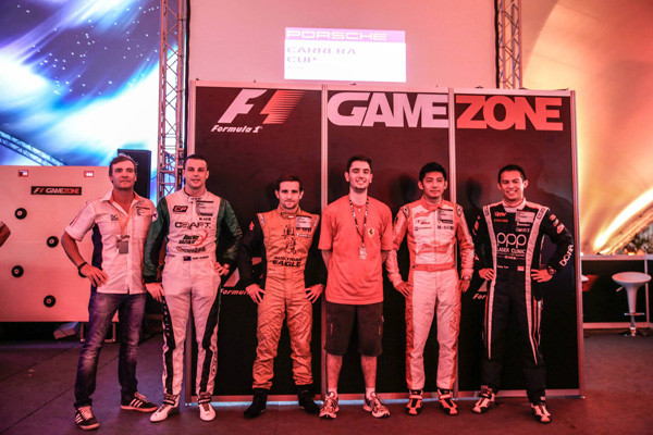 De F1 Gamezone winnaars in Singapore