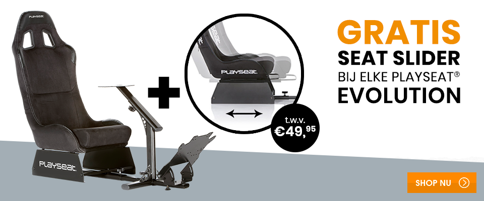 Gratis Seat Slider bij elke Playseat® Evolution!